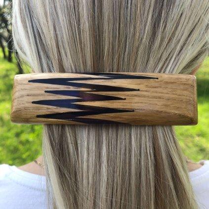 Dřevěná spona do vlasů Alba