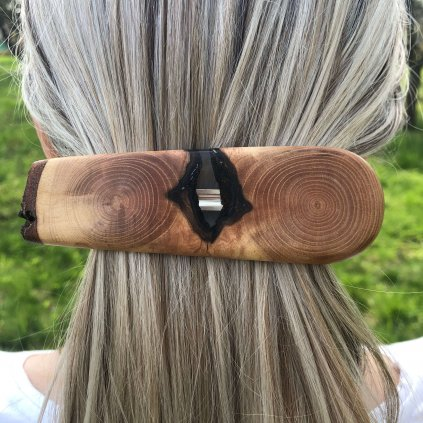 Dřevěná spona do vlasů Remy