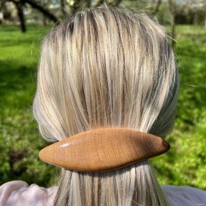 Dřevěná spona do vlasů Quincy