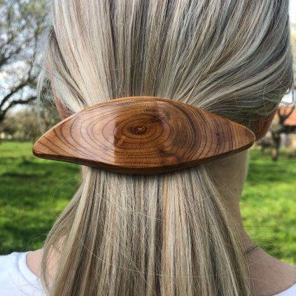 Dřevěná spona do vlasů Tansy