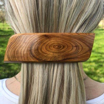 Dřevěná spona do vlasů Logan