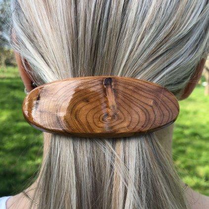 Dřevěná spona do vlasů Lana