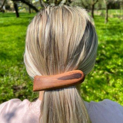 Dřevěná spona do vlasů Della