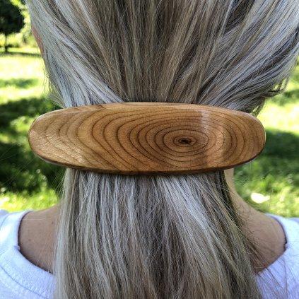 Dřevěná spona do vlasů Jamison
