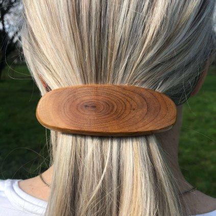 Dřevěná spona do vlasů Alfie