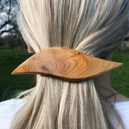 Dřevěná spona do vlasů Willow