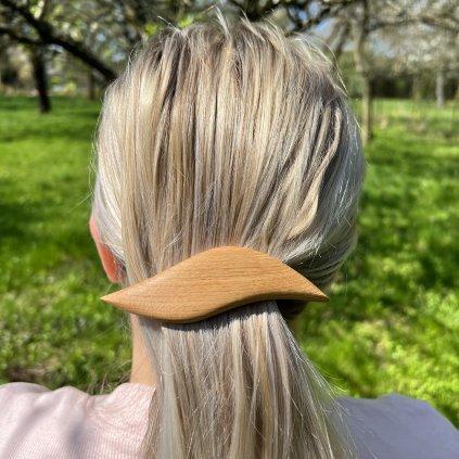 Dřevěná spona do vlasů Hazel