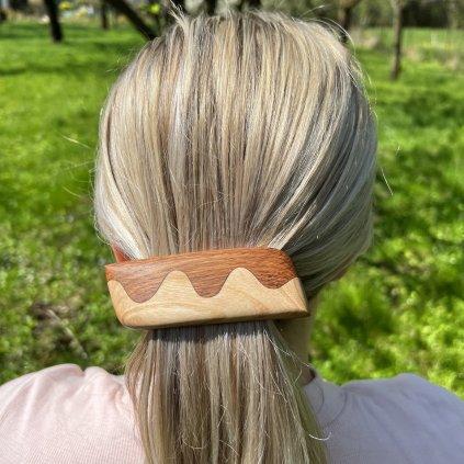 Dřevěná spona do vlasů Evelynn