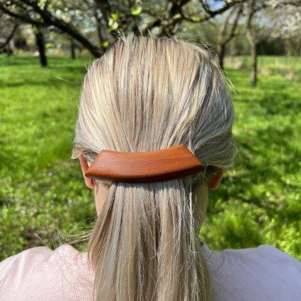 Dřevěná spona do vlasů Palma