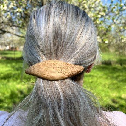 Dřevěná spona do vlasů Draco