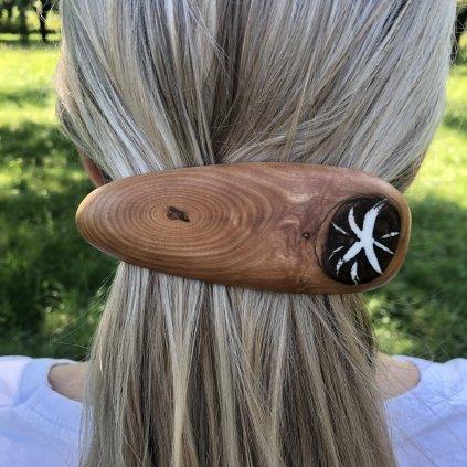 Dřevěná spona do vlasů Deryl
