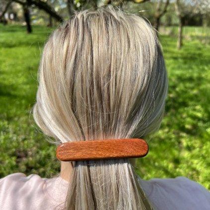 Dřevěná spona do vlasů Eliot