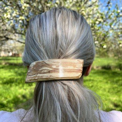 Dřevěná spona do vlasů Gabriela