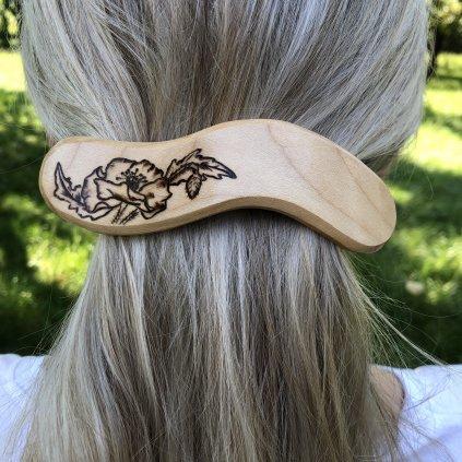 Dřevěná spona do vlasů Marley