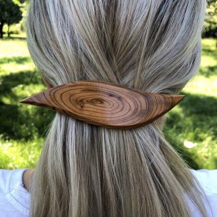 Dřevěná spona do vlasů Maya