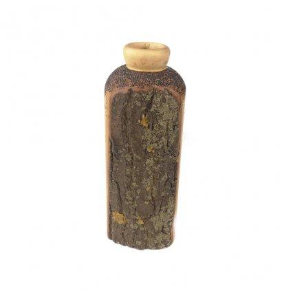Dřevěná váza 18 cm Ziyad
