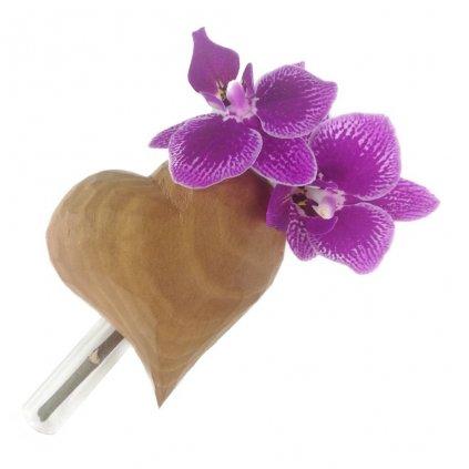 Dřevěná váza na magnet Wijida