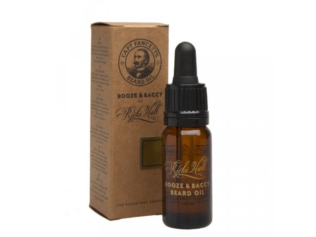 Captain Fawcett Ricki Hall's Booze And Baccy olej na vousy 10 ml