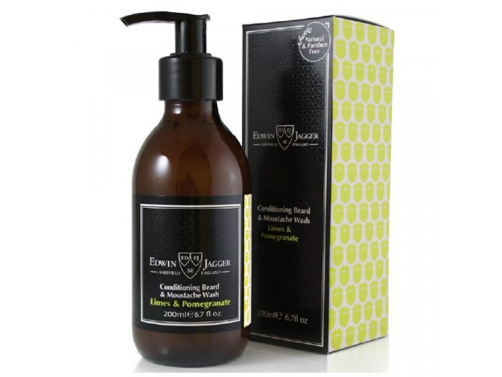 Edwin Jagger Limes and Pomegranate šampon na vousy 200 ml
