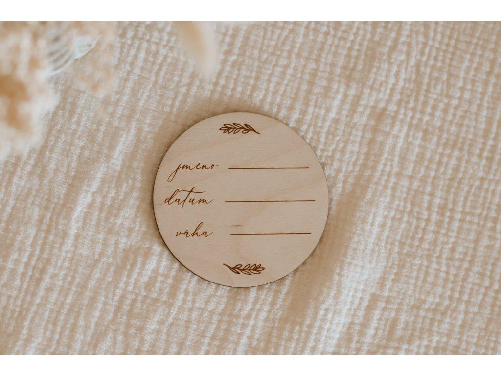 Milníková kartička pro novorozence