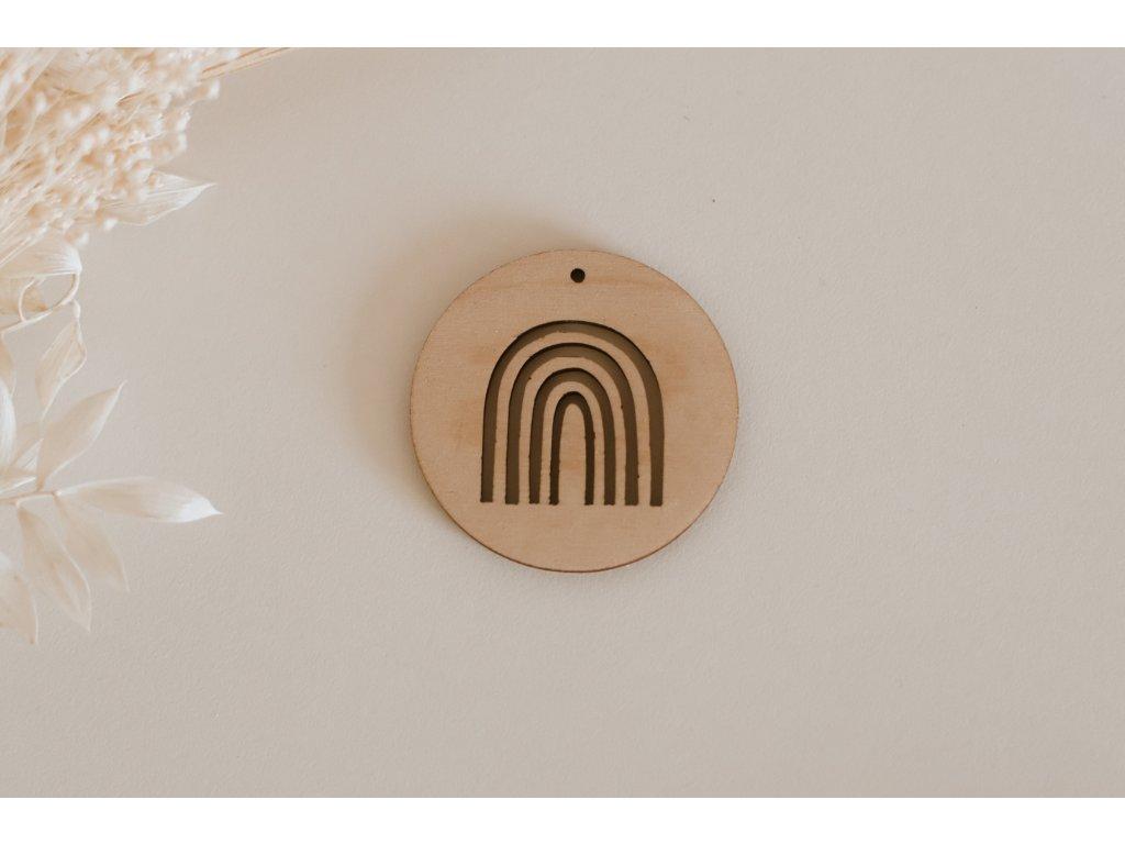 Dřevěné kolečko - Duha