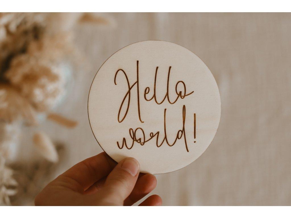 Dřevěný milník - Hello world!