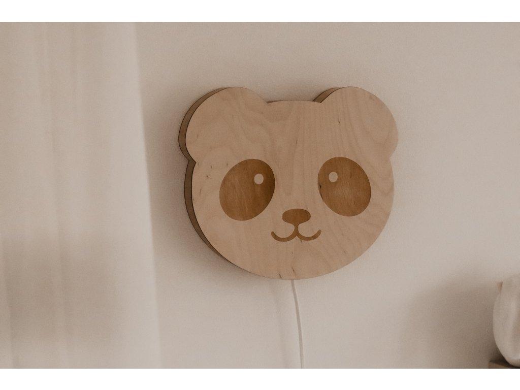 Dřevěná nástěnná lampička - Panda
