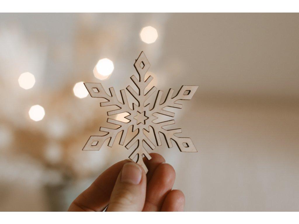 Dřevěná Vánoční ozdoba - Hvězda