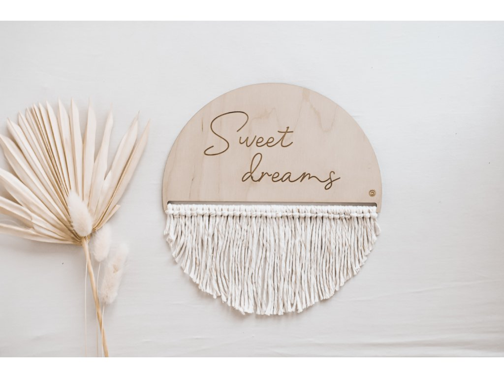 Soul Knots Wooden Macramé - Sweet dreams