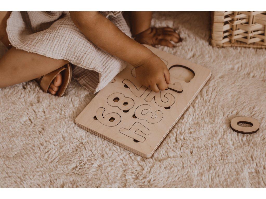 Dřevěné Montessori Puzzle - Čísla