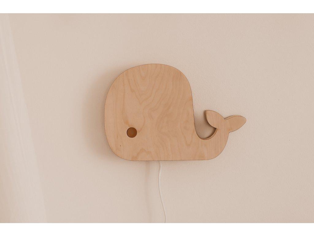 Dřevěná lampička - Velryba