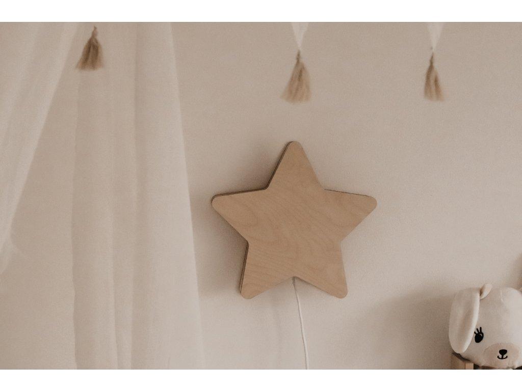 Dřevěná lampička - Hvězda