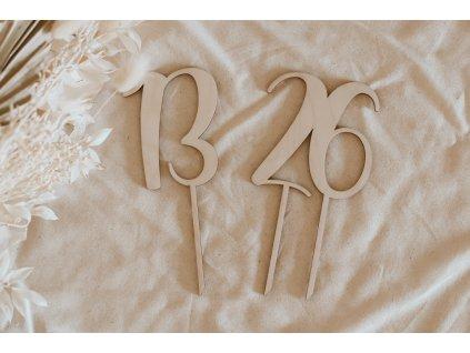 Narozeninový zápich do dortu - dvouciferné číslice
