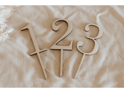 Zápich - Čísla do dortu