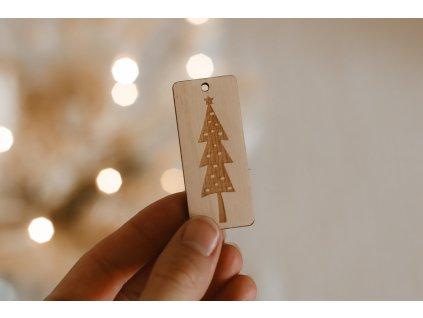 Vánoční štítek na dárky
