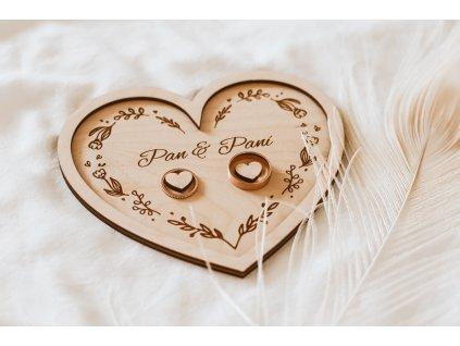 Svatební podložka na prstýnky Pan&Paní