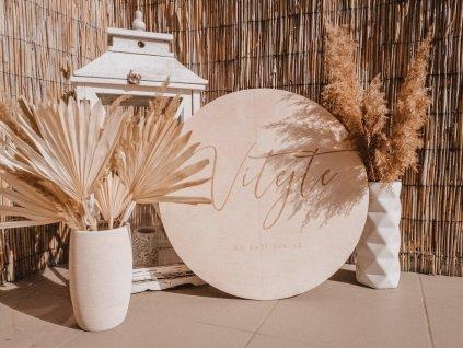 Svatební kulatá cedule - Vítejte na naší svatbě