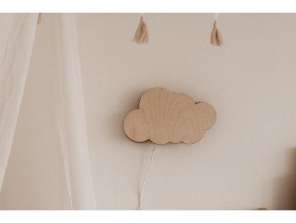 Dřevěná nástěnná lampička - Mráček