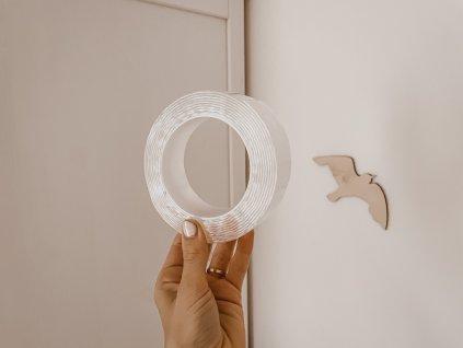 Transparentní voděodolná oboustranná lepící páska - 5m