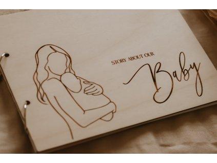 Dřevěné album - Story about our baby