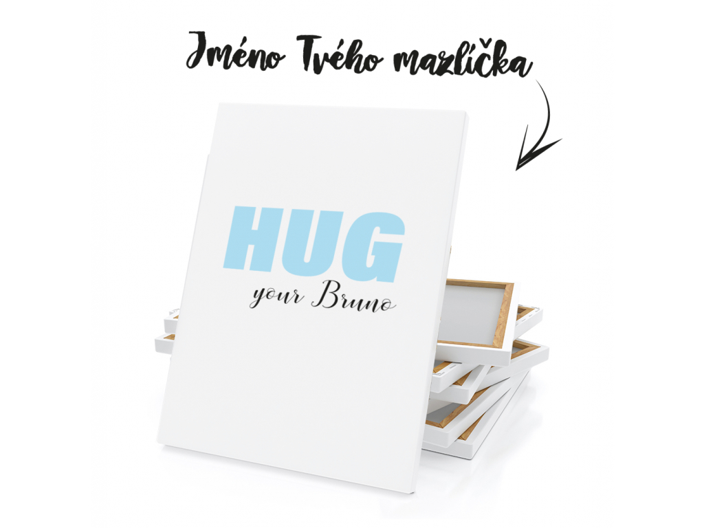 HUG YOUR JMÉNO MODRÁ