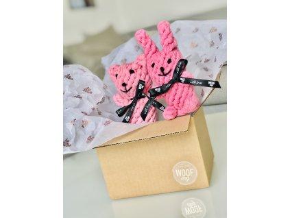 MEDVĚD &  KRÁLÍČEK - růžový - TEDDY & BUNNY - pink
