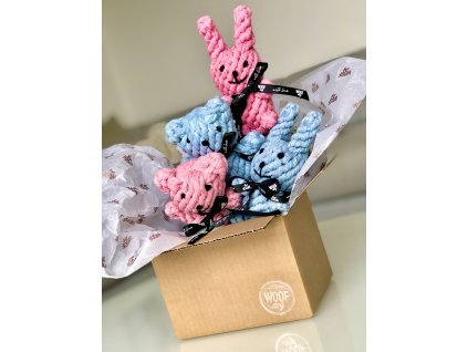BEZVA PARTA - 2x Medvěd a 2x králík - růžový a modrý - Pink & blue - TEDDY & BUNNY
