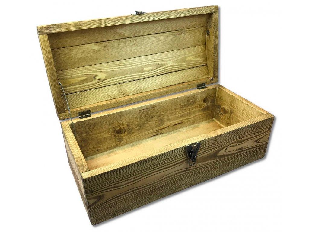dětská dřevěná pirátská truhla na hračky GERALT