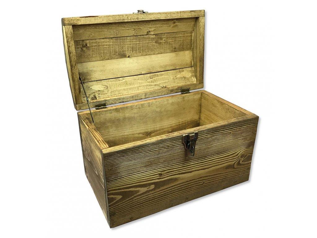 dětská dřevěná pirátská truhla na hračky HOOK