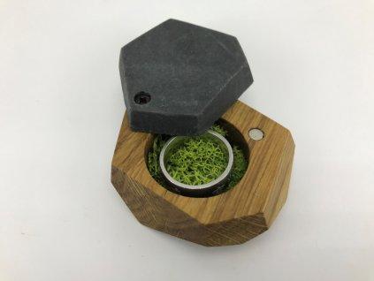 dřevěná krabička na snubní prsten #7