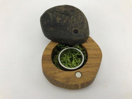 dřevěná krabička na snubní prsten #10