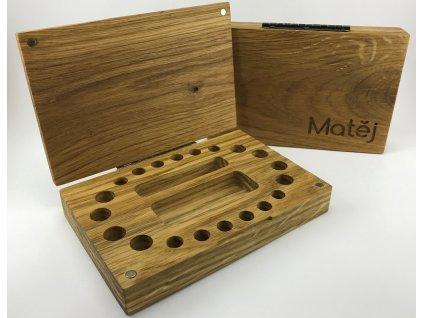 dřevěná krabička na mléčné zuby