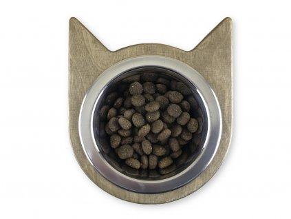cat head bowl stribrny dub 01ws
