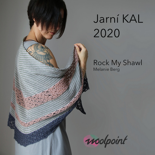 Jarní KAL 2020 Rock My Shawl